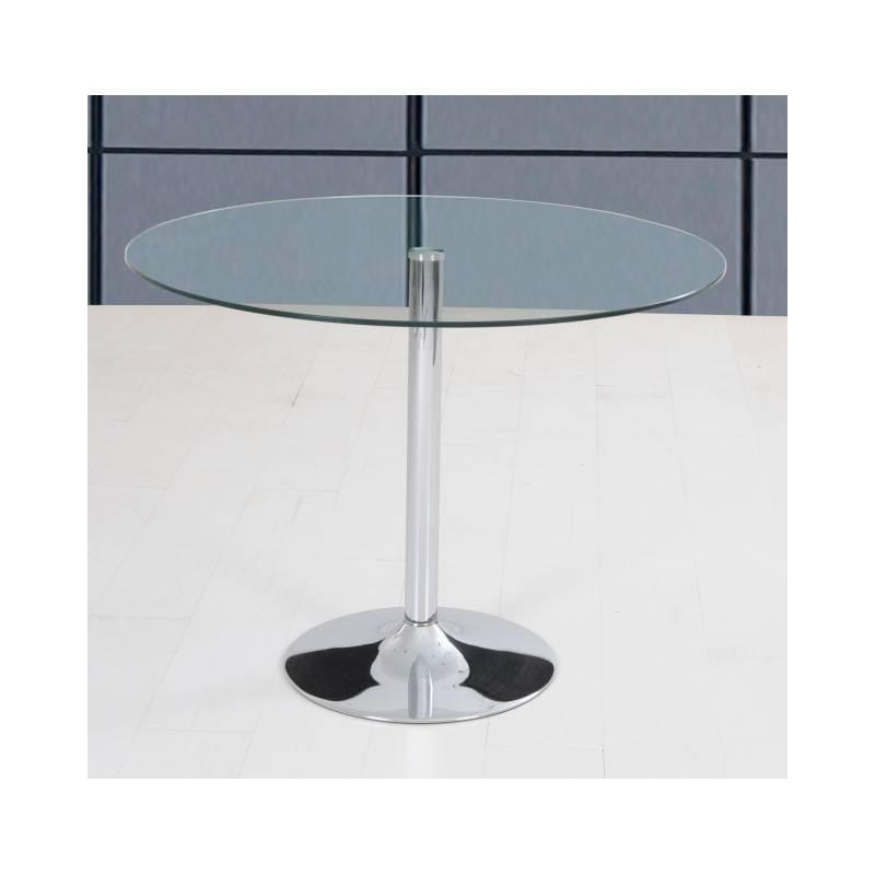 Mesa redonda cristal