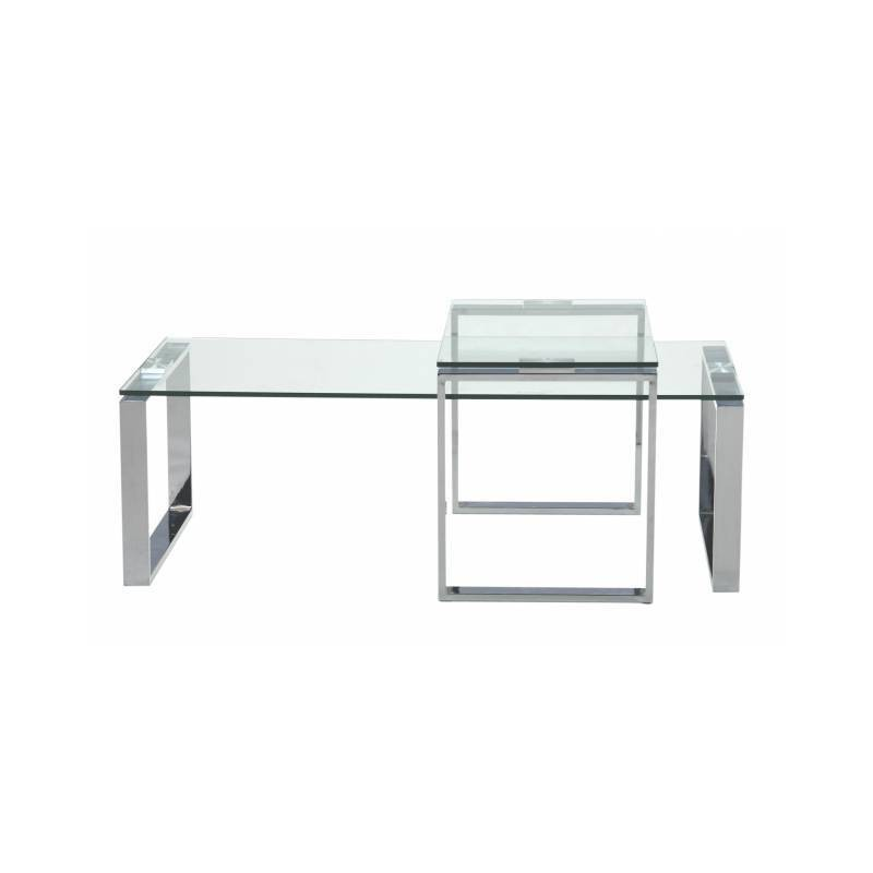 Mesa centro cristal trasparente