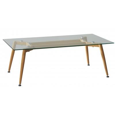 Mesa de centro rectangular en cristal for Cristal para mesa rectangular