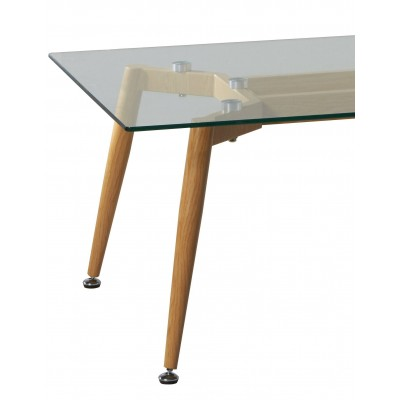 Mesa centro rectangular de cristal