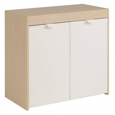 Muebles blanco y haya 20170831212320 for Mueble dos puertas