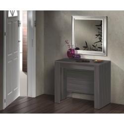 Consola o Mesa Comedor Extensible gris oscuro, 4 en 1 en un solo mueble recibidor y mesa de comedor de 50 a 236 cm de mesa.