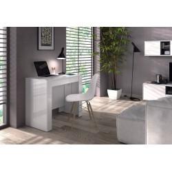 Consola o Mesa Comedor Extensible blanco brillo, 4 en 1,recibidor y mesa de comedor de 50 a 236 cm de mesa.