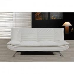 Sofá camá blanco polipilel acolchado