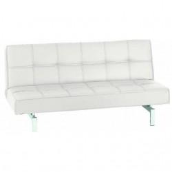 sofá cama Manhattan clic-clac polipiel blanco