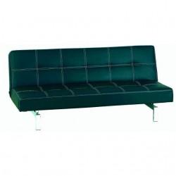 Sofá cama Manhattan clic-clac de polipiel negro