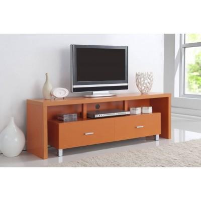 Mesa de televisi n 2 cajones naranja de 150cm de ancho y for Mesa para tv con cajones