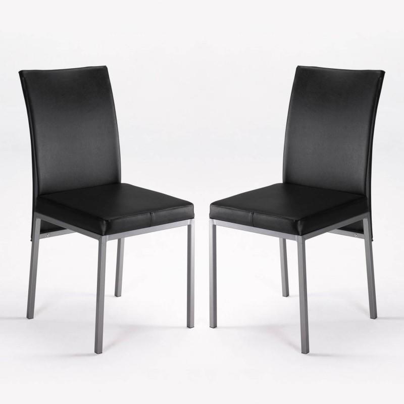kit de 2 sillas Cris negras