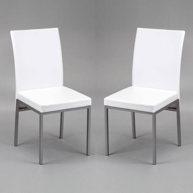 kit de 2 sillas Cris en blanco