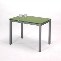 Mesa con alas extensibles en color verde