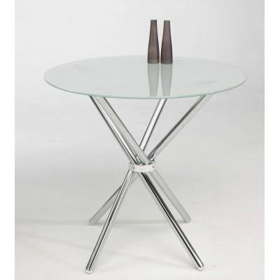 mesa redonda de cristal transparente de 80 cm de di metro