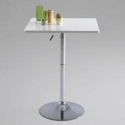 Mesa taburete cuadrada, color blanco