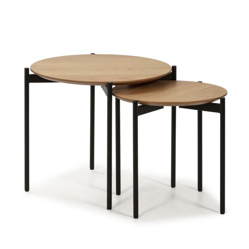 Mesas nido juego 2 mesas Neila Natural