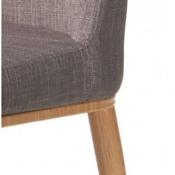 Silla tapizada tela marrón