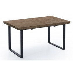 MESA COMEDOR EXTENSIBLE NATURAL ROBLE AMERICAN / NEGRO