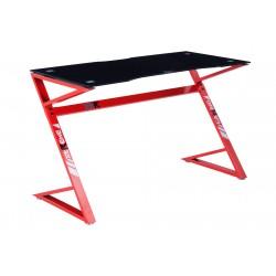 Mesa Gamer XT03 120x60 cm. Carbono - Rojo
