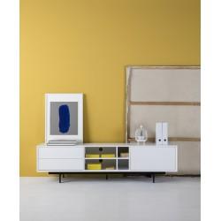 Mueble TV Barna 1P 2C de 180 cm. Blanco