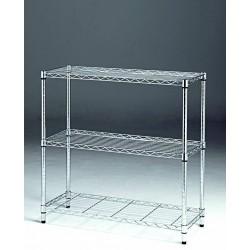 Estantería metálica, de 3 baldas muy de moda como almacenaje, de 90 ancho 35 de fondo y 90 de alto
