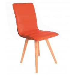 Silla naranja de estilo nórdico,