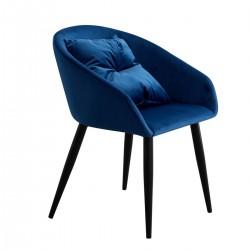 Pack de 2 Sillones Velvet Azul con cojín