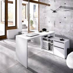 Mesa de oficina Dunia en L Color Blanco
