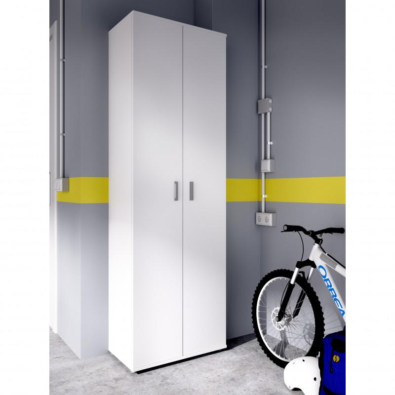 Armario multiusos 2 puertas y 3 estantes Blanco