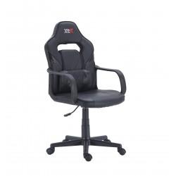Sillón Giratorio Gamer Confort Símil Piel Negro / Carbono
