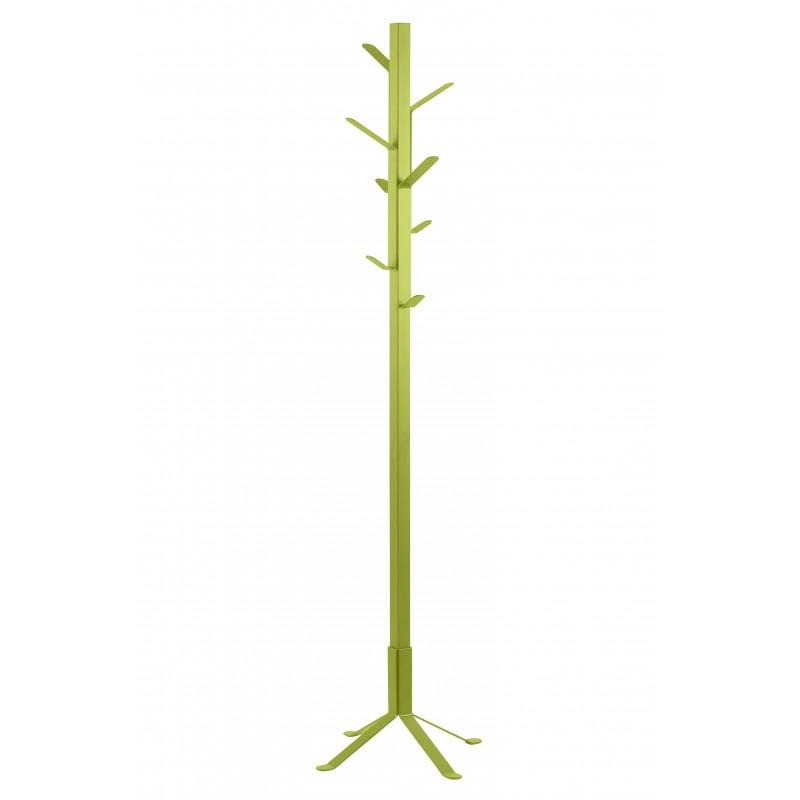 Perchero de pié metálico color verde lima funcional , estable de 50x50 y 180de alto