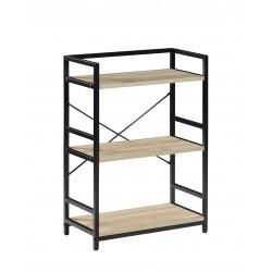 Estantería metálica en negro y 3 estantes