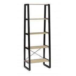 Estanteria Alta metalica en negro y 5 estantes