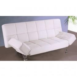 Sofá cama clicl clack polipiel blanco
