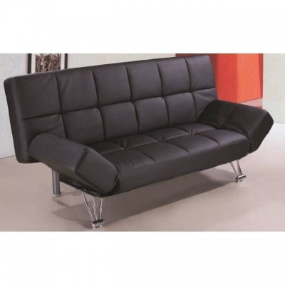 Sof cama clik clak en polipiel negra - Camas tipo sofa ...