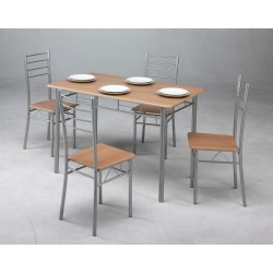 Conjunto  de mesa de cocina + 4 sillas PROMO