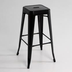 Taburete alto  metal  color negro