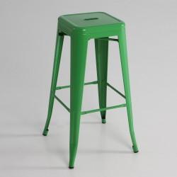Taburete alto  metal  color verde