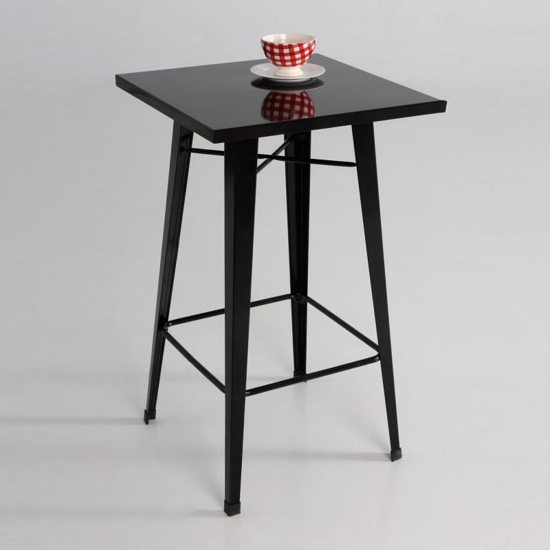 Mesa taburete  metal  color negro