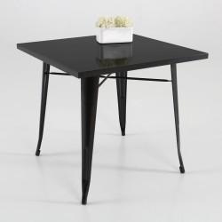 Mesa de café  metal  color negro