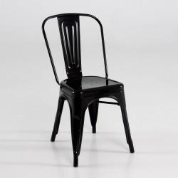 Silla de metal  color negro