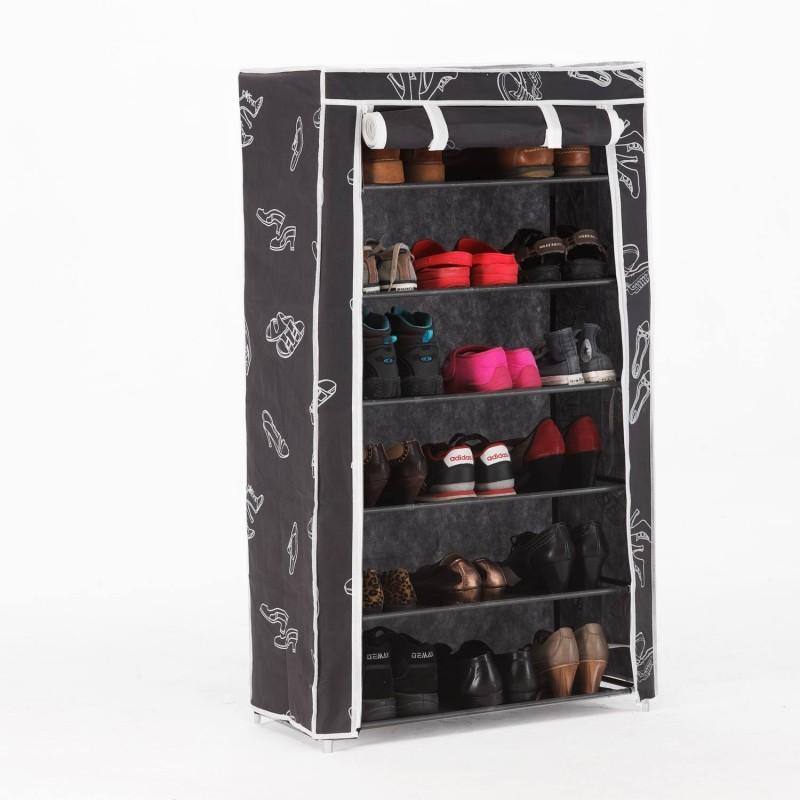 Zapatero armario 6 baldas de tela