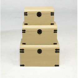 Set de Baules decorativos crema