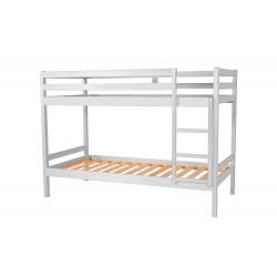 Litera blanco mate de 2 camas de 90x190