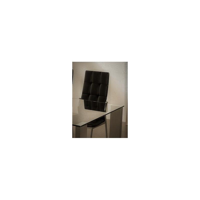Silla tapizada en polipiel C/Negro (4 Sillas)