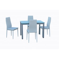 Mesa cocina rectangular extensible cristal de 110 x 70 cm