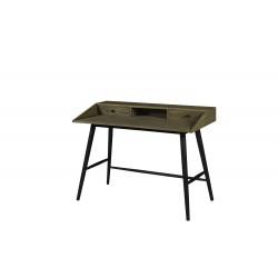 Mesa escritorio color avellana en madera de acacia maciza