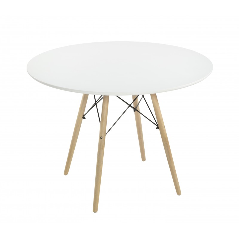 Mesa redonda blanco de 100 cm de diámetro