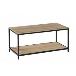 Mesa de centro rectangular negro-roble de 100X50