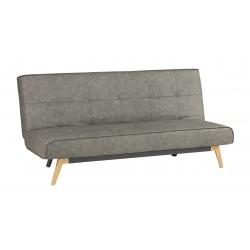Sofá cama click clack  tapizado en microfibra color grafito
