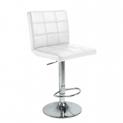 Taburete elevable blanco
