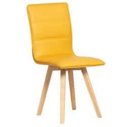 Silla de diseño nordico color amarillo dos unidades de 46x54cm y 88 cm de alto