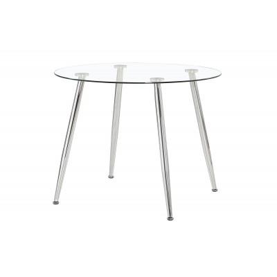 Mesa comedor redonda cristal de 100 cm